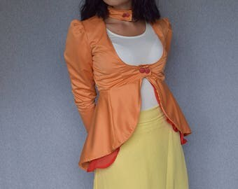 Pokemon Inspired Dress Jacket - Charmander - Size X-Small/Small
