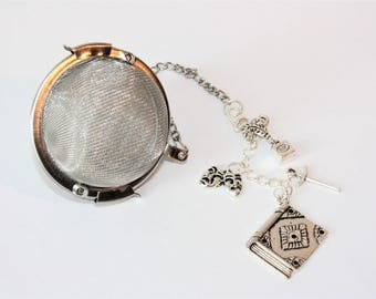 Shakespeare Inspired Tea Infuser With Removable Charm - Tea Ball - Tea Gift - Tea Infuser - Tea Accessories