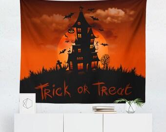 Halloween Tapestry | Halloween Wall Décor | Halloween Wall Tapestry |  Halloween Tapestries | Halloween Wall Art | Halloween Art