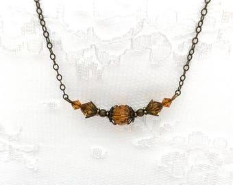 Bridesmaid Necklace, Birthstone Necklace, Victorian Filigree Necklace