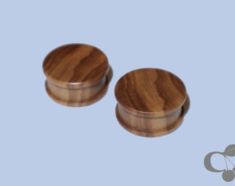 16 mm/20 mm plugs made of olive wood