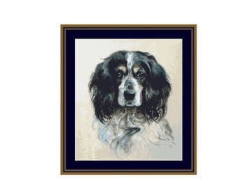 Springer Spaniel Counted Cross Stitch Pattern / Chart,  Instant Digital Download (AP238)