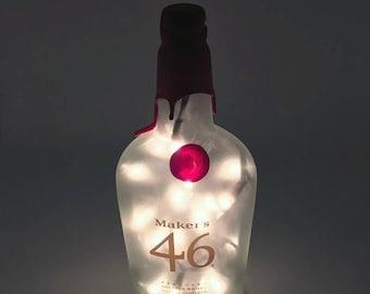 Makers 46 Bourbon Whisky Bottle Light / Gifts for Men / Gift Ideas