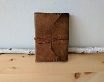 Distressed Leather Journal Cover