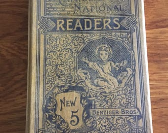 1894 5th Catholic National Readers- Children Learning the Classics