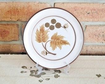 Denby Cotswold side, salad, bread plate 1970s, leaf design