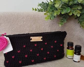 Handmade Crochet Hearts Essential Oils Pouch | Pouch for Oils | Essential Oils