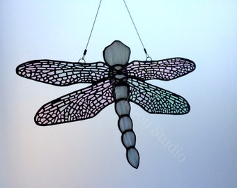 Stained Glass Dragonfly, Large Dragonfly, Suncatcher, Sun Catcher, Stained Glass Hanging