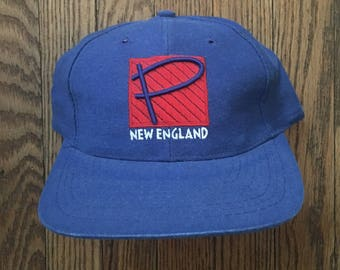 Vintage 90s Deadstock New England Patriots Sports Specialties NFL Velcro Strapback Hat Baseball Cap