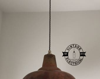 pendant shade lighting. the brancaster copper industrial factory shade light ceiling dining room kitchen table vintage edison filament lamps pendant lighting
