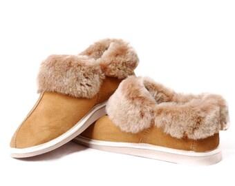 Women's Sheepskin Slippers! High quality handmade fur slippers! Ready to ship!
