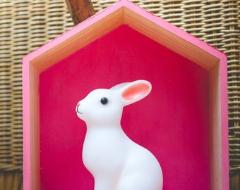Girly pink house wooden wall paint and Scandinavian