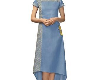 Indian Pakistan Bollywood Designer Kurti Designer Women Ethnic Light Blue Colored Madal Kurti Top Tunic Kurta women kurti top