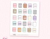 TN Love sticker sampler - 25 cute, hand-drawn planner stickers
