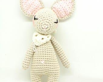 poupée au crochet, Poupée fait main, décoration  / jouet enfant, doudou lapin; peluche lapin, amigurumi lapin; cadeau naissance, cadeau bébé