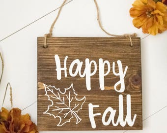 Happy Fall | Fall Sign | Fall Door Sign | Wreath Sign | Thanksgiving Sign | Fall Wreath Decor | Thanksgiving Decoration