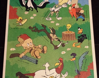 Vintage 1993 Looney Tunes Sticker Sheet - Unused, Nice!