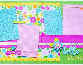Hello Sunshine 2 Page Scrapbook Page Kit