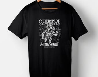 Outer Space Explorer, Universe, Astronaut, Stars and Space T-SHIRT