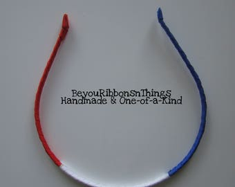 Patriotic | Red White Blue | Headband | One Size