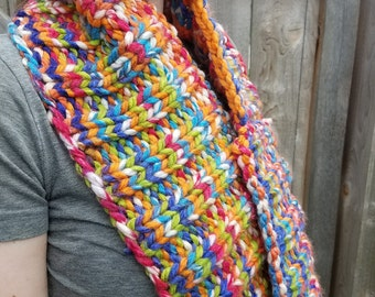 Chunky Infinity Cowl, Cotton Candy