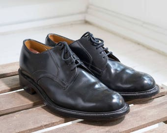 Loake Black Leather Shoes (Made in England)