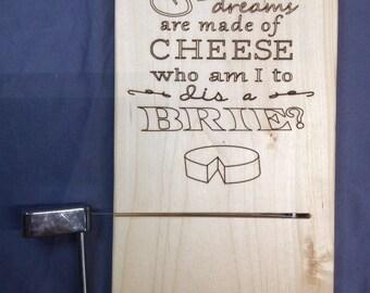 Cheese slicing board
