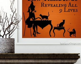 halloween decor halloween wall art halloween art cat decor cat wall art - Halloween Wall Decorations