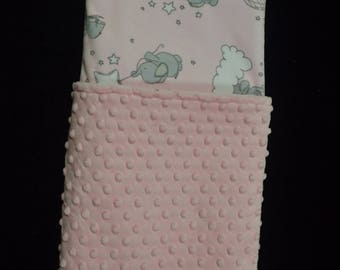 Personalized Baby Blanket-Baby Girl Blanket-Minky Baby Blanket-Pink, Grey and White Minky Baby Blanket-Going Home Blanket-Soft Baby Blanket