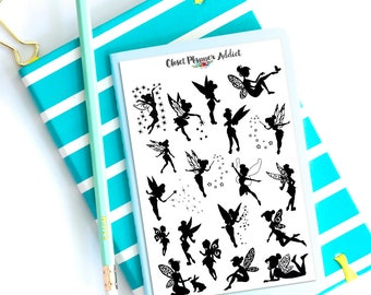 Fairies Planner Stickers | Fairy Stickers | Fairy Silhouettes | Silhouette Stickers (S-309)