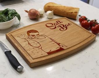 Personalized Cutting Board, Custom Cutting Board, Engraved Cutting Board, Monogrammed Cutting Board, Custom Wedding Gift --CBA-WO-SALTBAE