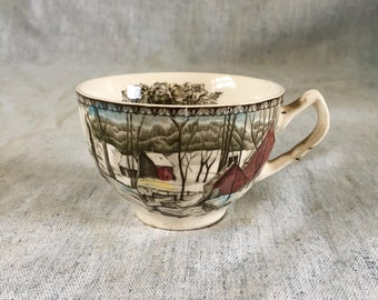Vintage Johnson Brothers Friendly Village Coffee Cup