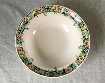Vintage International Tableworks Velvet Faces Vegetable Bowl, Pansy Dinnerware