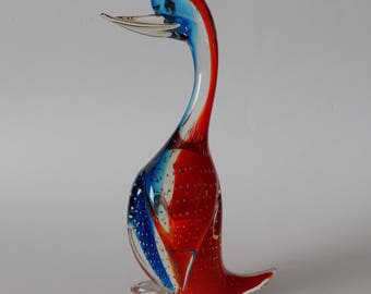 Vintage Murano Controlled Bubble Art Glass Duck