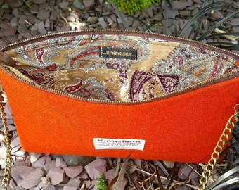 Harris tweed summer clutch
