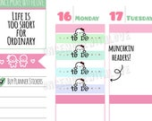 Munchkins -  Pastel Peeking Munchkin Weekly To Do Headers Planner Stickers (M298)