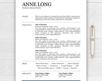 Resume Template Sale! Instant Download Resume for Word and Pages with Cover Letter and References