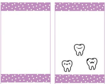 Doodle Tooth Stickers, Kawaii Planner Stickers -017