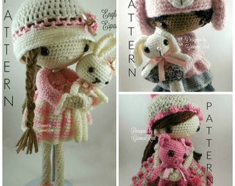April, May, June and their Pets- Amigurumi Dolls Crochet Patterns