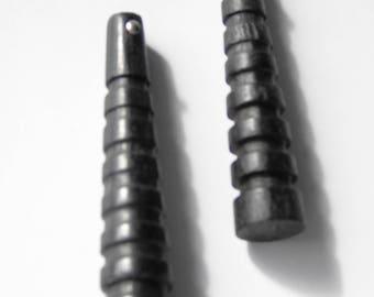 black ebony wood beads