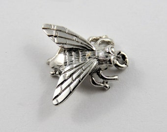 Pesky House Fly Sterling Silver Charm of Pendant.