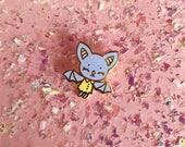 Tiny Purple Bat Hard Enamel Pin - Standard (A) Grade