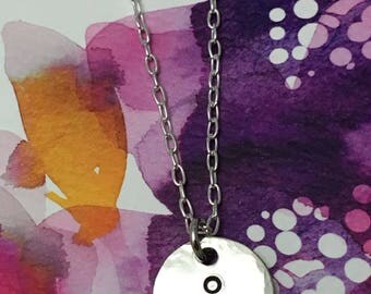 Semicolon Hand Stamped Necklace