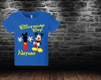 Mickey birthday shrit custom any number