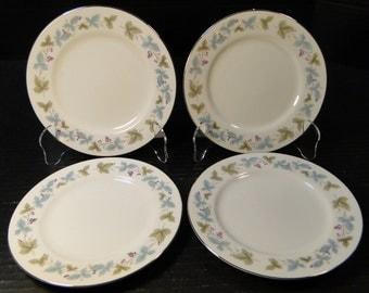 "FOUR Fine China of Japan Vintage Bread Plates 6 1/2"" 6701 Set of 4 EXCELLENT!"