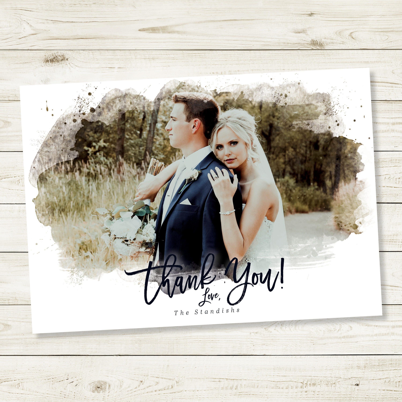 wedding thank you cards printable thank you card template custom