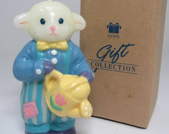 Avon Collectible Candle, Lamb Candle, Avon Gift Collection, 1990's