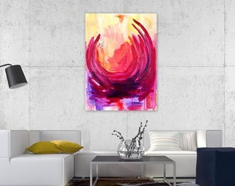 Rise Again Collection - 30x40 on Stretched Canvas, Abstract Art, Bright Home Decor, Wall Decor, Interiors, Fall Decor