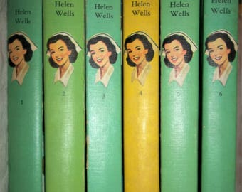 Cherry Ames Nurse Books Series volumes 1-6 student senior army chief flight veteran's picture covers in acceptable  used condition