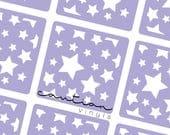 Scattered Stars Vinyl Stencils | Nail Art